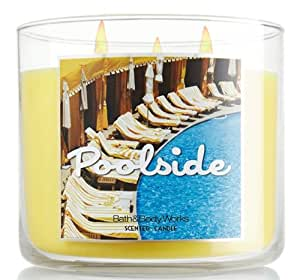 Bath and Body Works Poolside Three Wick Scented Candle 14.5 Oz