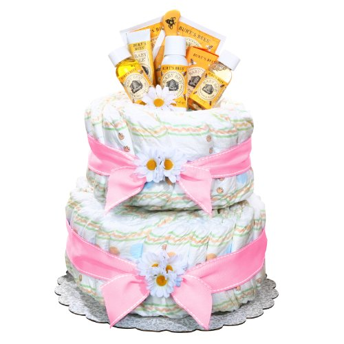 Alder Creek Gifts Girl's Burt's Bees Diaper Cake