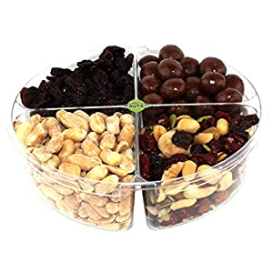 Premium Gourmet Nuts & Dried Fruits Gift Basket, Assorted Tray Fresh and Roasted
