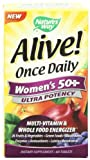 Nature's Way Alive Once Daily Women's 50+  Ultra Potency Multivitamin, 60 Tableets