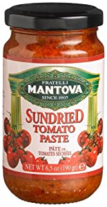 Mantova Sundried Tomato Paste, 6.5-Ounce Bottles (Pack of 4)