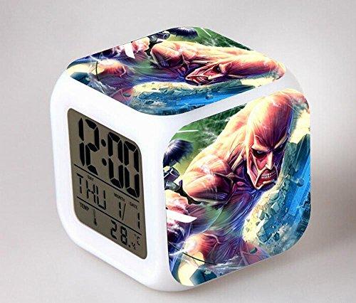 GUOHUA®Shingeki no Kyojin Anime Cartoon création réveil coloré pour enfants réveil réveil numérique horloge analogique horloge lumineuse , # 2