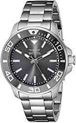 Invicta Men's 21377 Pro Diver Analog Display Quartz Silver-Tone Watch