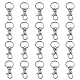 Trixes 20 kleine abnehmbare Drehverschlüsse für Schlüsselringe - Karabinerhaken Schlüsselanhänger - Kosmetik & Schmuck