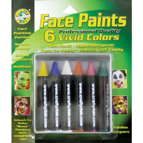 Crafty Dab Face Paint Jumbo Crayons - Vivid Colors