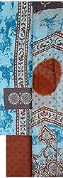 NAVRANG Women's Cotton Dress Material (NDT01, Sky Blue)