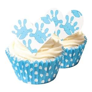 Edible Cake Decorations Baby Boy : 12 Baby Boy Hands Edible Cake Decorations: Amazon.com ...