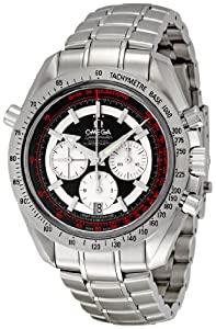Omega Men's 3582.51.00 Speedmaster Broad Arrow Black Dial Watch by Omega