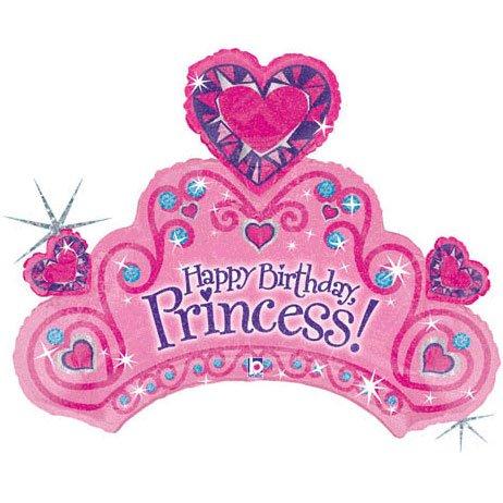 34 Inches Happy Birthday Princess Mylar - 1