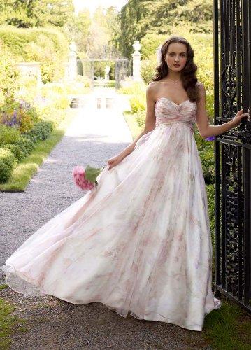Very Bridal Dress: David\'s Bridal Wedding Dress: Strapless Printed ...