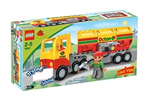 Lego Duplo Lego Ville Series # 5605 : Tanker Truck Set with Driver Minifigure and Tanker Truck with Sounds (Total Pieces : 17)