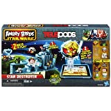 "<div class=""aplus""> <br> <h5><div id=""header0"">Angry Birds Star Wars Telepods Star Destroyer Set</div></h5> <p><div id=""text0"">For the first time, Telepods lets you teleport your Rebel Bird and Imperial Pig figures into the new Angry Birds Star Wars II app so you can choose who you launch. You can also launch your Rebel Bird figures in real life to destroy iconic Angry Birds Star Wars structures and topple the evil pig empire.  </div></p><p>Stack more than 20 pieces to create the iconic Star Destroyer, then launch up to three Rebel birds at a time with the new triple Lightsaber launcher to destroy the ship and send the Imperial Pigs flying. For the first time ever, you can also download all 10 Angry Birds Star Wars figures, six of which are exclusive to this set, into the new Angry Birds Star Wars II app using the included Telepods base.</p>   <div class=""third-col""> <div class=""centerImage""> <div id=""image0""><img src=""https://images-na.ssl-images-amazon.com/images/I/319urIkOunL.jpg"" alt=""Angry Birds Star Wars Telepods Star Destroyer Set"" height=""285"" width=""285""><div class=""imageCaption"">Get ready for lots of galactic adventures in your world and theirs as you launch the Rebel birds on exciting missions to take down the Imperial pigs.<br>View larger</div></div> </div> </div>  <div class=""third-col""> <div class=""centerImage""> <div id=""image1""><img src=""https://images-na.ssl-images-amazon.com/images/I/31lt2EoYKbL.jpg"" alt=""Angry Birds Star Wars Telepods Star Destroyer Set"" height=""285"" width=""285""><div class=""imageCaption"">Stack more than 20 pieces to create the iconic Star Destroyer, then launch up to three Rebel birds at a time with the new triple Lightsaber launcher to destroy the ship and send the Imperial Pigs flying.<br>View larger</div></div> </div> </div>  <div class=""third-col last""> <div class=""centerImage""> <div id=""image2""><img src=""https://images-na.ssl-images-amazon.com/images/I/31bdCVjBZAL.jpg"" alt=""Angry Birds Star Wars Telepods Star Destroyer Set"" height=""285"" width=""285""><div class=""imageCaption"">Figures include Luke Skywalker Bird (Jedi), Emperor Palpatine Pig, Stormtrooper Pig, Anakin Skywalker Bird (Podracer), Darth Vader Pig, Droideka Pig, Padmé Amidala Bird, Capt. Panaka Bird, Zam Wesell Pig, and Jedi Youngling Bird.<br>View larger</div></div> </div> </div>  <div class=""break spacer""> </div>  <div class=""third-col""> <div class=""centerImage""> <div id=""image3""><img src=""https://images-na.ssl-images-amazon.com/images/I/318KryK8vdL.jpg"" alt=""Angry Birds Star Wars Telepods Star Destroyer Set"" height=""285"" width=""285""><div class=""imageCaption"">Teleport figures into the app.<br>View larger</div></div> </div> </div>   <div class=""third-col""> <div class=""centerImage""> <div id=""image4""><img src=""https://images-na.ssl-images-amazon.com/images/I/31xqWORVRcL.jpg"" alt=""Angry Birds Star Wars Telepods Star Destroyer Set"" height=""285"" width=""285""><div class=""imageCaption"">Stack, launch, and crash.<br>View larger</div></div> </div> </div>  <div class=""third-col last""> <div class=""centerImage""> <div id=""image5""><img src=""https://images-na.ssl-images-amazon.com/images/I/31KftjQGCbL.jpg"" alt=""Angry Birds Star Wars Telepods Star Destroyer Set"" height=""285"" width=""285""><div class=""imageCaption"">Angry Birds Star Wars characters.<br>View larger</div></div> </div> </div>  <div class=""break spacer""> </div>  <p><div id=""text1"">Hasbro is committed to being an ethical and responsible company and is a recognized toy industry leader in the areas of product safety, environmental sustainability, ethical sourcing, and philanthropy.</div></p>  <h5><div id=""header1"">Features:</div></h5> <div id=""list0""><ul><li>2 ways to play</li><li>Teleport figures into the app</li><li>Stack, launch, and crash</li><li>Birds and pigs look like Star Wars characters</li><li>Launcher fires 3 birds at once</li><li>Ages 5 and up</li><li>Warning: Choking Hazard – Toy contains small parts and small balls. Not for children under 3 years</li><li>Includes 10 figures, 1 Telepods base, 20 blocks, 7 Star Destroyer pieces, 1 Lightsaber launcher, and instructions</li></ul></div> </div>"