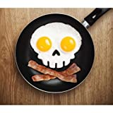 Funny side up Skull Egg mould Black