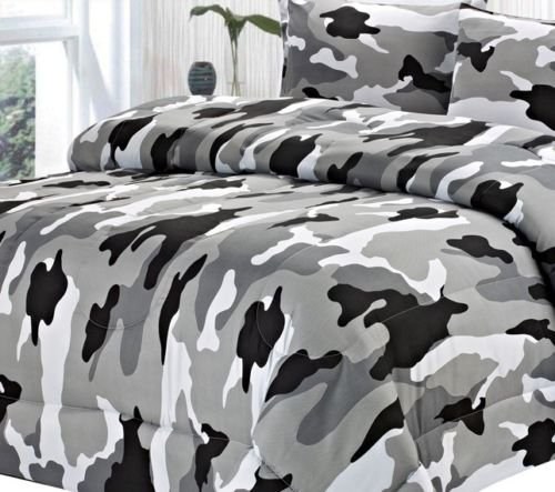 Full Size Camo Bedding 1711 front