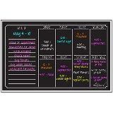 Dry Erase Magnet Weekly Calendar Black Fluorescent