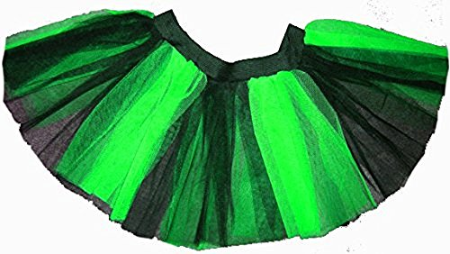 Plus Size Green Black Stripe 2 Tone Tutu Dance Halloween Free Shipping