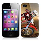 Cover custodia rigida protezione per apple iphone 4 o 4s, soggetto: motocross