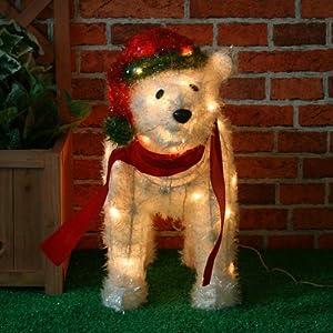 Large Pre Lit Christmas Polar Bear Christmas Decoration