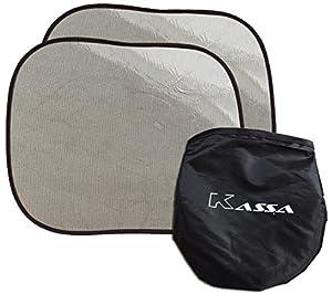 Car Sun Shade by Kassa (Set of 2) - Baby Sun Shade with UPF 30+ Sun Protection For Car - Static Cling Car Sunshade for Ultimate Car UV Protection- Car Window Shade by Kassa Inc.
