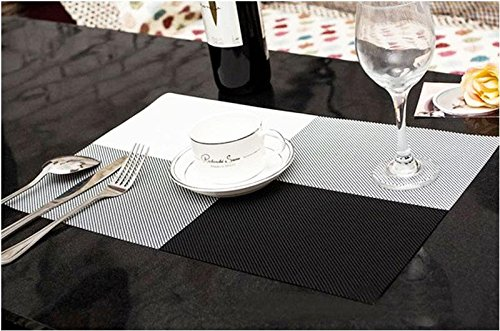 Crazydeal Pvc Table Mat With Woven Design Plastic Colourful Placemats 300Mm X450Mm