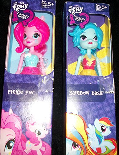 (2)My Little Pony 7 Inch Dolls/ Pinkie Pie/ Rainbow Dash (Mlp Cherry Pie compare prices)