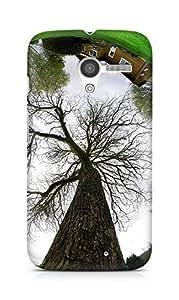 Amez designer printed 3d premium high quality back case cover for Motorola Moto X (World Reflected)