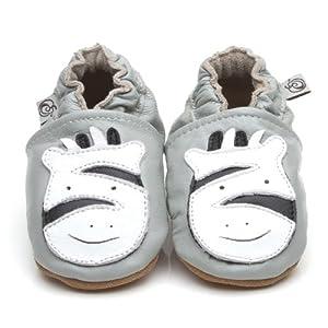 Suaves Zapatos De Cuero Del Bebé Cebra 12-18 meses