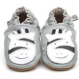 Chaussons Bébé en cuir doux - Zebra - 6/12 mois