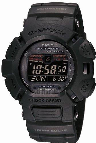 CASIO (カシオ) 腕時計 G-SHOCK Men in Mat Black メン・イン・マット・ブラック MUDMAN タフソーラー 電波時計 MULTIBAND 6 GW-9010MB-1JF メンズ