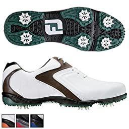 Footjoy Hydrolite Golf Shoes 2015 Closeout White/brown/green X-wide 7.5