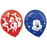 Mickey Mouse Printed Latex Balloons- Assorted Colors