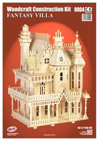Quay fantasy villa kit de construction en bois jouets pour enfants - Jeux de construction de villa ...
