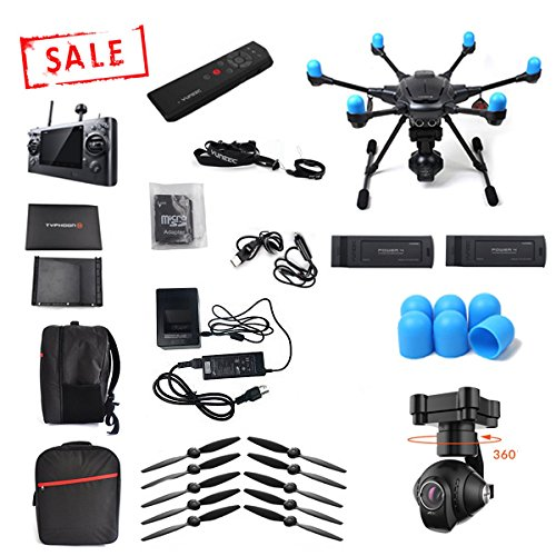 Yuneec Typhoon H with Wizard FREE extra battery, FREE Softshell Backpack and FREE motor covers