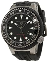 Swiss Legend Men's 21818D-GM-01-NB Neptune Black Dial Black Silicone Watch by Swiss Legend