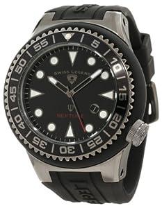 Swiss Legend Men's 21818D-GM-01-NB Neptune Black Dial Black Silicone Watch