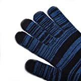Zelta 3 Conductive Fingertips Touch Screen Gloves Winter Universal Texting Gloves for iPhones, Androids, iPads, Tablets, Smartphones and Other Touch Screen Devices, Blue