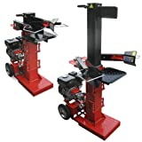 ROTENBACH Gasoline Log Splitter 6.5 HP Wood 10 Tons Force Adjustable Mobile Professional