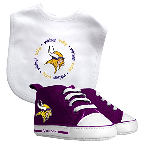 Minnesota Vikings Nfl Infant Bib And Shoe Gift Set front-952482