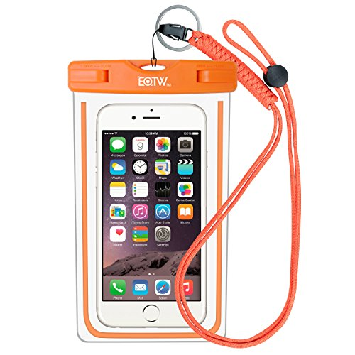 Waterproof Case Bag Pouch : EOTW Waterproof Phone Case Bag Cover with Military Class Lanyard For Kayaking Swimming, Fit iPhone 6 6S Plus 5S SE, Galaxy S5 S6 S7 Edge, Note 5 4, LG Blu HTC Nokia -Orange (Boat Fishing Accessories compare prices)