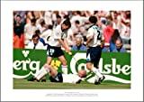 Paul Gascoigne 'Dentist Chair' England Euro 96 Picture Memorabilia