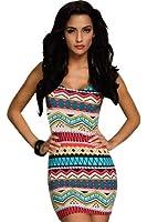 Ninimour Womens Fashion Sleeveless Summer Vintage Casual Mini Dress