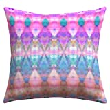 DENY Designs Amy Sia Tribal Diamonds Pastel Pink Outdoor Throw Pillow, 18 by 18-Inch