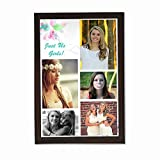 Clixicle **Free Customization** Best Friends Forever - Just Us Photo Collage Poster with Brown Frame, 18 inches x 12 inches