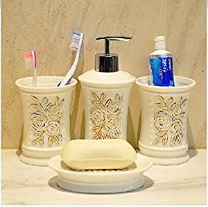 Bathroom accessory sets high grade gold for Rose gold bathroom accessories sets