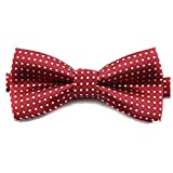 Etop Colorful Polka Dots Bow Tie,Pet Dog Cat Adjustable Bowtie Fashion Accessories Wine Red by VICTHY