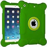 iPad Mini Case, HHI iPad Mini Protective Case Thick Armor GREEN [Fits iPad Mini 3/2/1 Generations] Protective Armor iPad Mini Case with [Large Corners] and Screen Lift Protection and Shock Absorbing