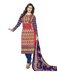 RK Fashion Womens Cotton Un-Stitched Salwar Suit Dupatta Material ( YOGESH-MCM-LIFESTYLE-SANA-148-Multi-Coloured-Free Size)