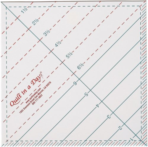 Cheap Quilt In A Day 6-1/2-Inch by 6-1/2-Inch Triangle Square Up Ruler