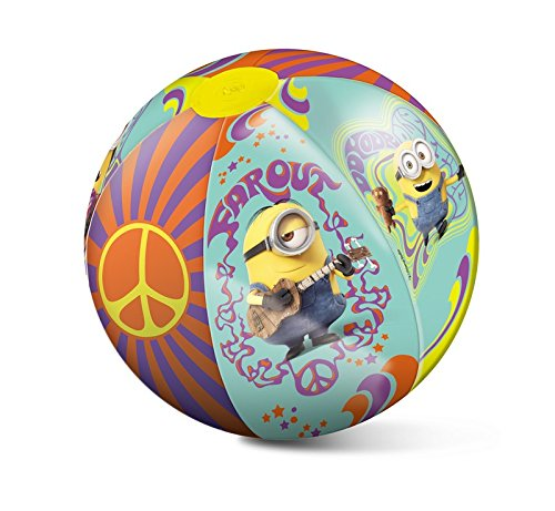 Mondo 16483 - Pallone gonfiabile da spiaggia Minion 10+ Mesi 50 cm