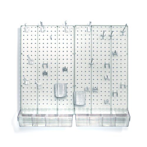 Images for Azar 900945-CLR Pegboard Room Organizer, Clear Frosted Pegboard